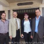 الدكتور منصور أحمد مدير ادارة الثروة الحيوانية ،د.ماجدة مفلح