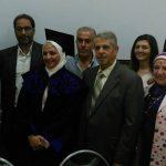 صورة جماعية مع الزملاء من ادارة البستنة