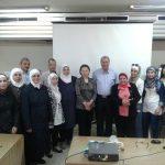 الكادر البحثي في قسم اللوزيات ودائرة الزراعة العضوية ومديرية الارشاد